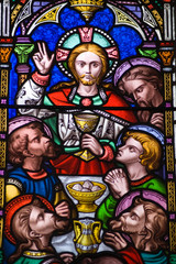 Last Supper Stained Glass window