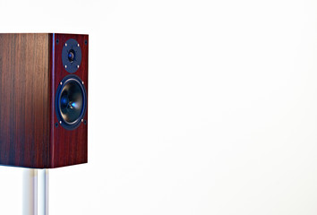 High End loudspeaker on white