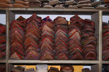 Stack Of Indian Traditional Shoes