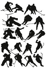 Silhouettes players - Hockey Team