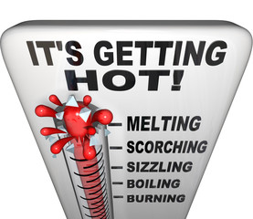Thermometer - Mercury Rising Bursting - Heat Rising