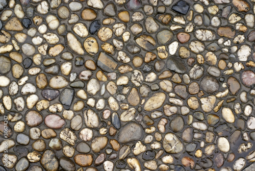 Ground with cobblestone