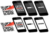 Smartphone Scanning QR-Code Connecting To www 3D