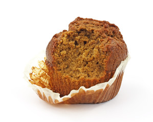 Bitten ginger bread muffin