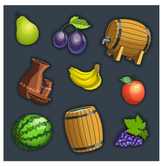 fruit and barrel