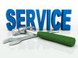 Service - Hammer und Schraubenschlüssel