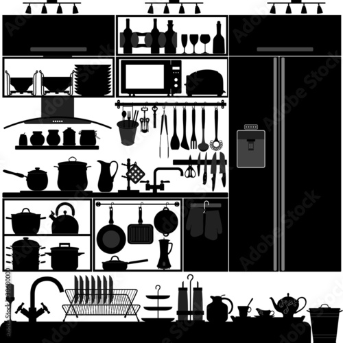 Kitchen Utensil Tool Equipment Interior Design