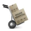 online shopping cardboard box