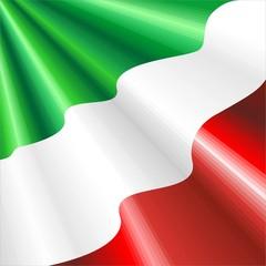 Bandiera Italia 150° Unità Italia-Italy Flag-Vector