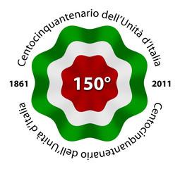 Coccarda 150 anni Unitˆ d'Italia