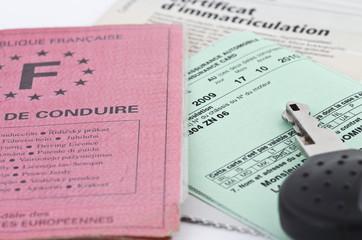 documents d'immatriculation et permis de conduire