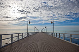 Fototapety Pier in the morning. Orlowo, Poland.