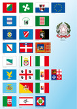 italian regional and national flags