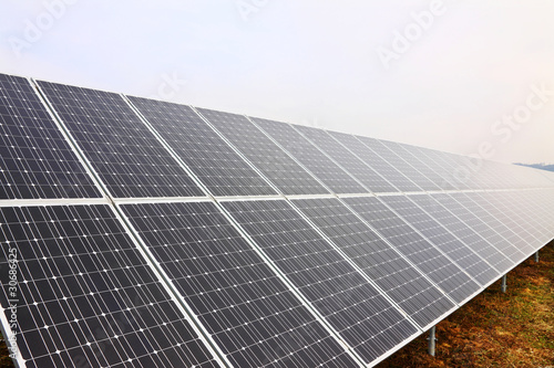 Detail of the Solar Power Station in the Nature