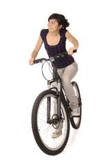 woman bicyclist