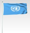005 - Flagge der Vereinten Nationen - Render