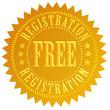 Free registration icon