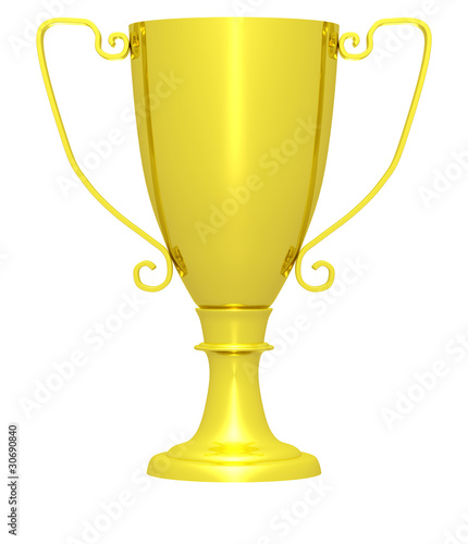 Foto op Canvas Golden trophy (isolated)