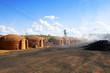 Fornos para a produção de carvão vegetal no Carajás