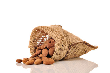 small bag of roasted almonds
