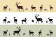 deer and bunnies banners