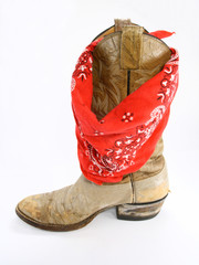 Bandana with cowboy boot