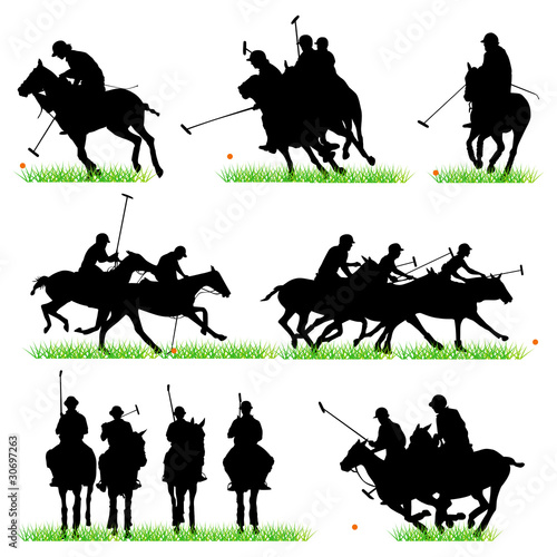 Polo sulhouettes set