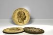 Goldmünzen Vorder und Rückseite