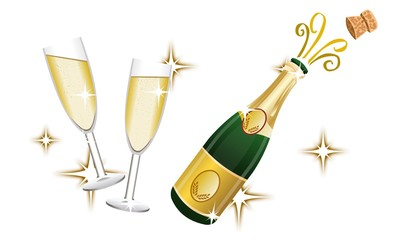 champagne + verres