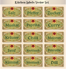 Spices Vectorset German 2