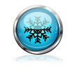 Boton futurista simbolo estrella frio