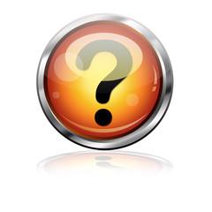 Boton futurista simbolo interrogacion