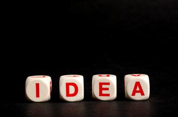 """scritta """"idea"""" su fondo nero"""