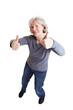Seniorin gibt ihre Zustimmung