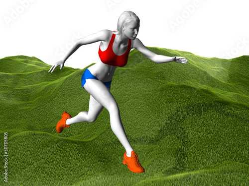 woman run in motion speed