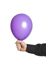 hand holding baloonn