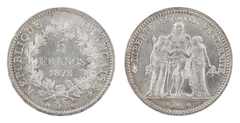 Antique french coin 1873
