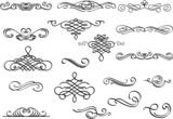 Fototapety Nice scroll elements