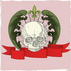 Skull on web