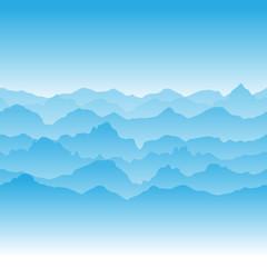 Абстрактное изображение заснеженных горных вершин