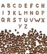 Kaffebohnen Alphabet