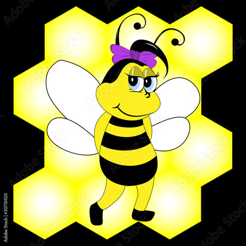 Bee, vector illustration, eps10