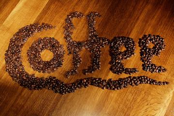 Kaffeeschriftzug