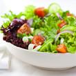 Mixed vegetable salad close up
