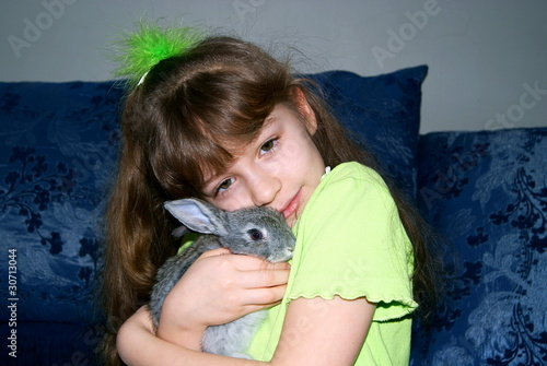 Favourite rabbit of the girl