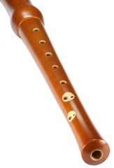 wood recorder on white
