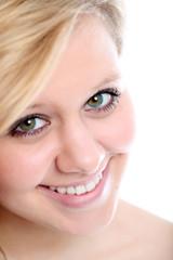 Closeup eines lächelndes Mädchens