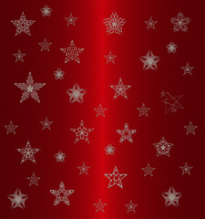 silver stars pattern on the red