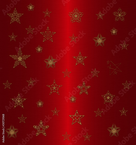 gold star pattern on the red