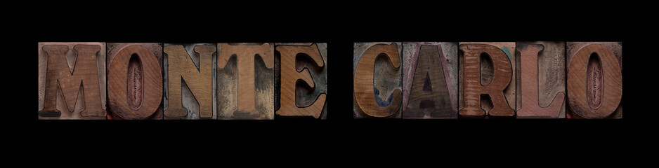 Monte Carlo in old wood type